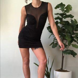 Forever 21 | Scalloped top sheer bodycon dress
